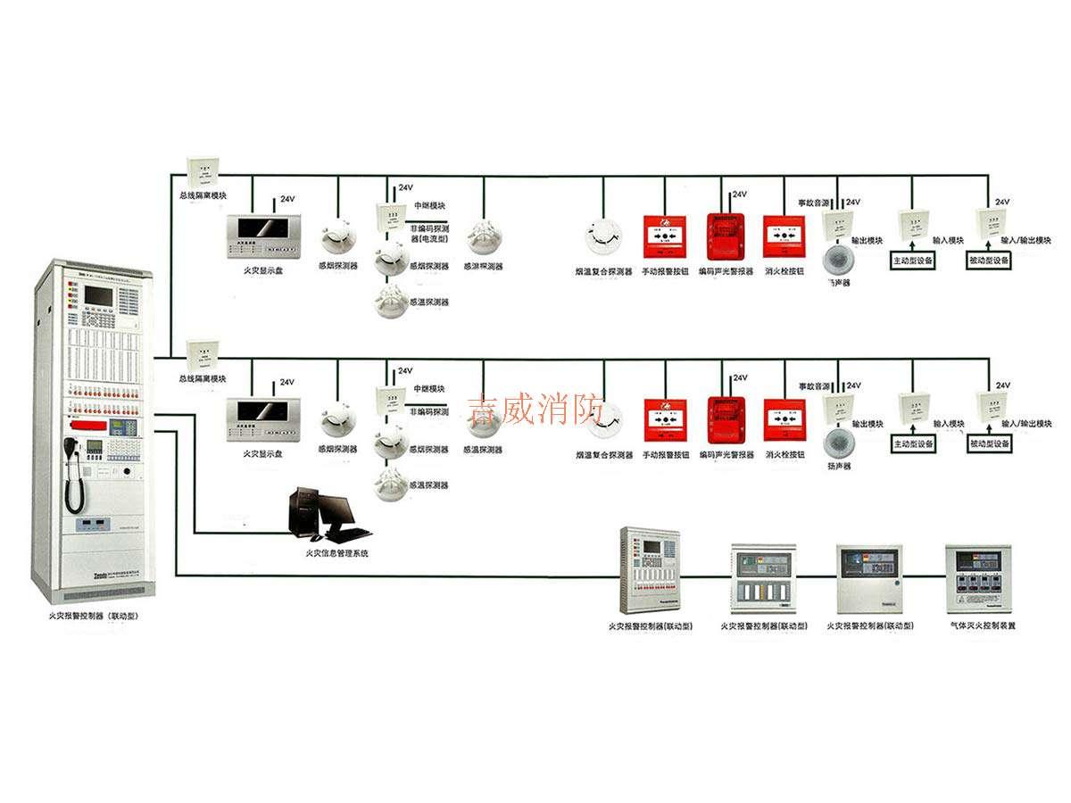 通过火灾探测器变成电信号